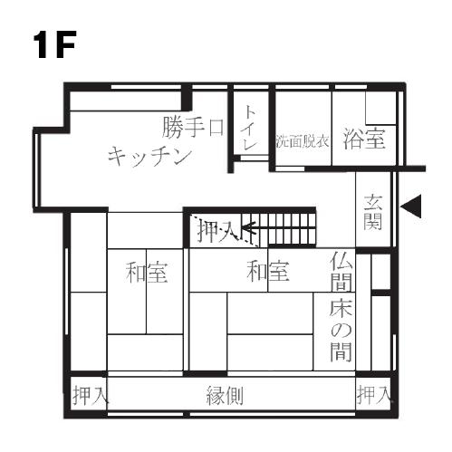 戸建リノベーション 桜ヶ丘モデルハウスリフォーム前1階間取り