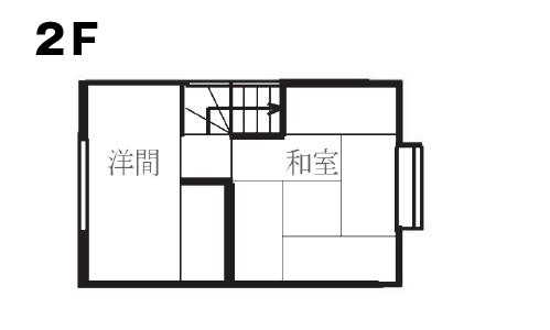 戸建リノベーション 桜ヶ丘モデルハウスリフォーム前2階間取り